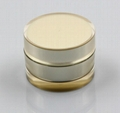 50g  round gold cream plastic jar
