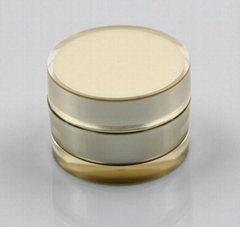 50g  round gold cream plastic jar ,cosmetic container for skin care