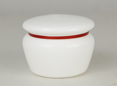 Plastic 50g white PP jar for  day cream