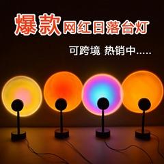 網紅日落燈夕陽投影燈背景燈創意氣氛燈
