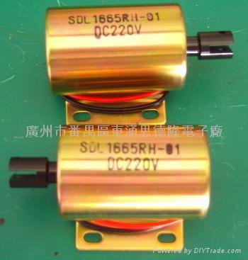 深圳強力端子機直流220V圓管電磁鐵定做 2