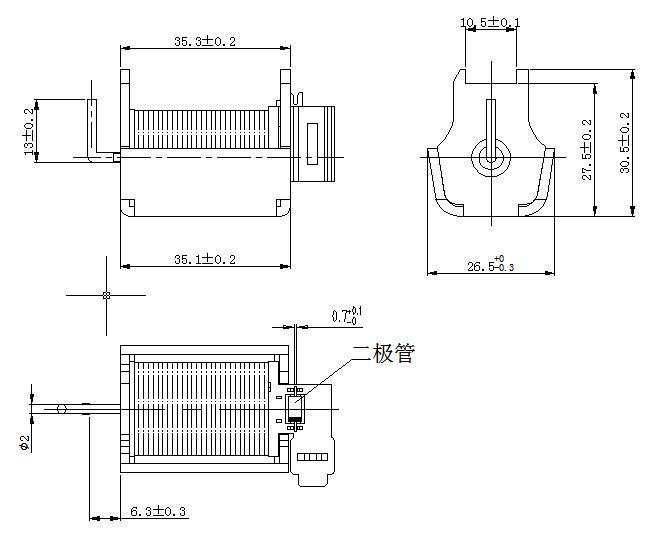 廣州汽車大燈透鏡電磁鐵定做 3