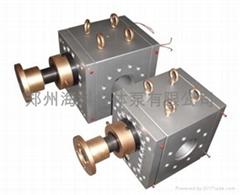 海科高温塑料片材挤出熔体泵 齿轮熔体泵