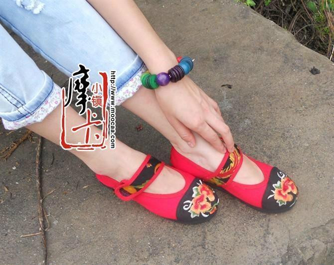 平跟绣花女鞋mst01 3