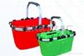 Folded shopping basket/shopping basket