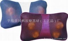 魔能枕 车载和家用按摩靠枕 红外热灸颈部腰部按摩器