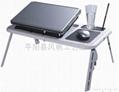 折叠多功能电脑桌 折叠电脑桌床上桌 双风扇折叠笔记本电脑桌  1