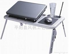 折叠多功能电脑桌 折叠电脑桌床上桌 双风扇折叠笔记本电脑桌