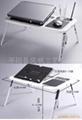 折叠多功能电脑桌 折叠电脑桌床上桌 双风扇折叠笔记本电脑桌  2