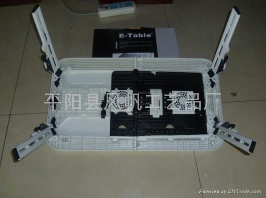 折叠多功能电脑桌 折叠电脑桌床上桌 双风扇折叠笔记本电脑桌  4