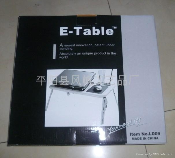 折叠多功能电脑桌 折叠电脑桌床上桌 双风扇折叠笔记本电脑桌  5