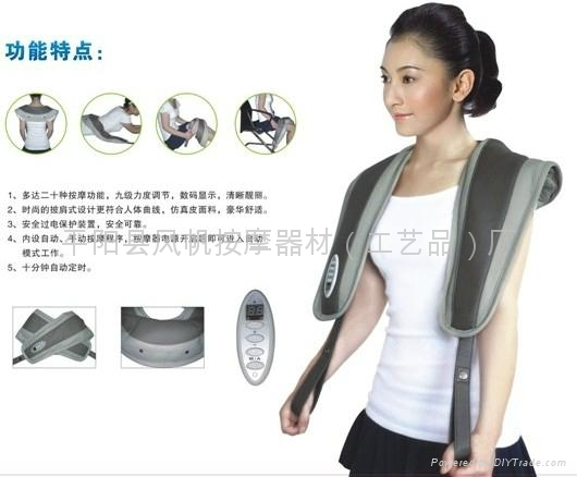 Multi-function neck and shoulder massager for health&beauty