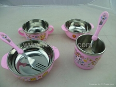 Stainless steel tableware tableware children suit creative kitchen supplies