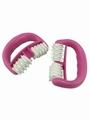 凹面滚动按摩器按摩器滚轮手动ABS塑料材质推背滚动保健按摩轮器材