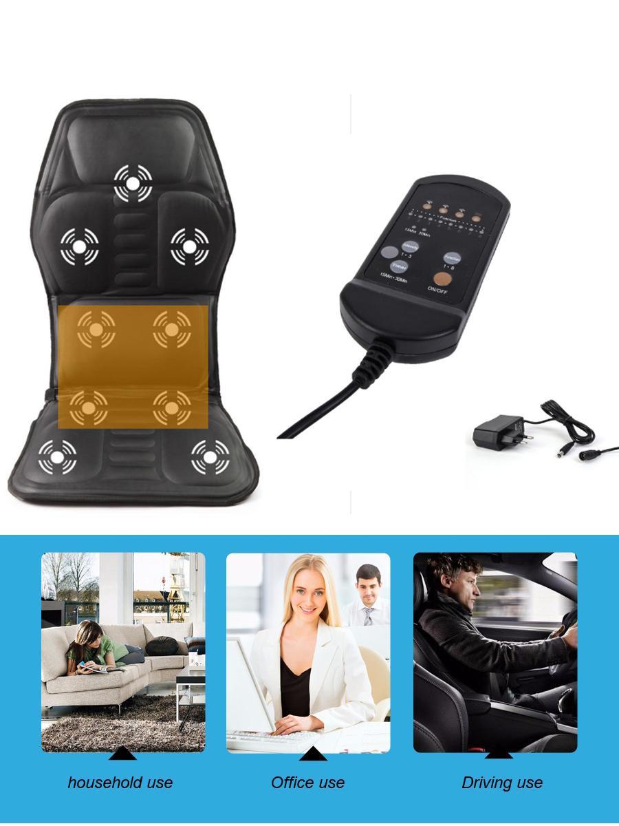 全身按摩汽車坐墊 多功能電動按摩毯梯型新款 保健按摩坐墊 6