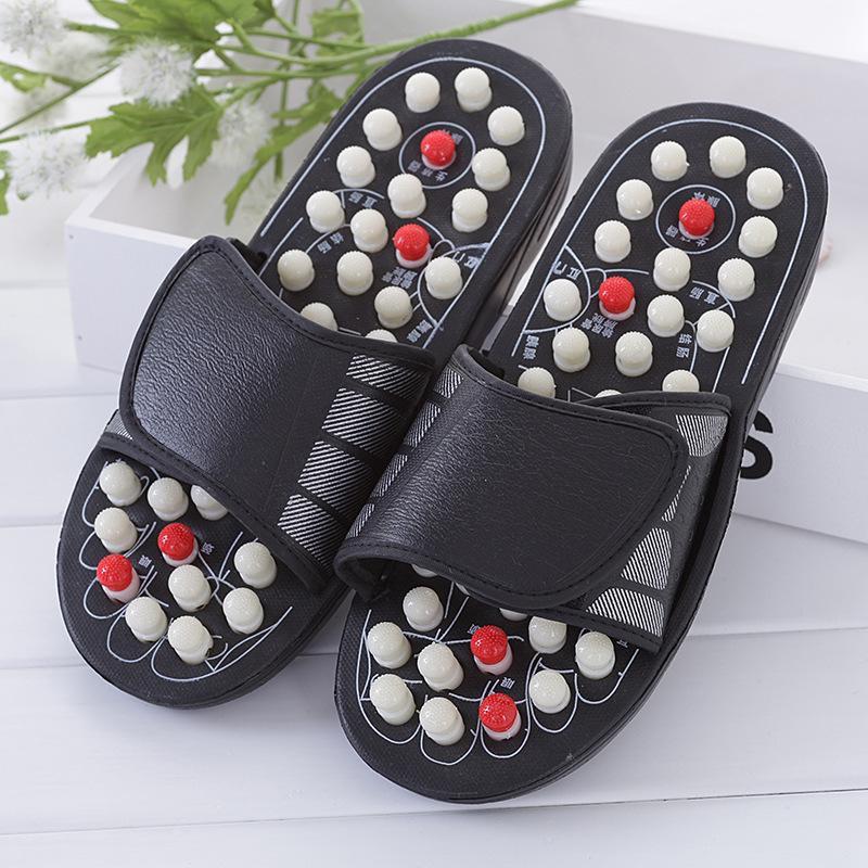 太极旋转按摩拖鞋圆珠带刺足底穴位按摩拖鞋可定制 3