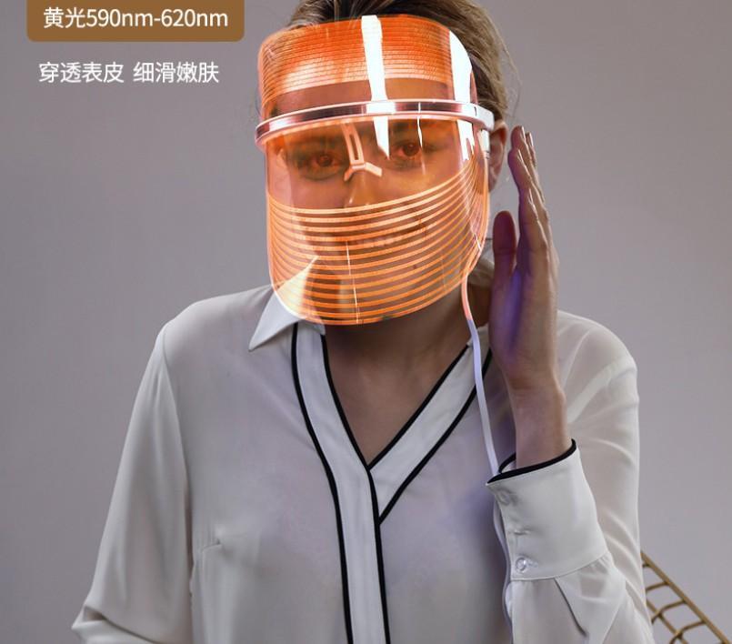 led美容面罩機三色美容儀器光子嫩膚儀 家用光譜儀彩光面罩美容儀 3