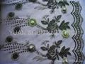 網眼布繡花+手工串珠、片 1