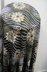DYED KNITTING FABRIC WITH METALLIC