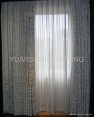 CURTAIN WITH FLOCKING
