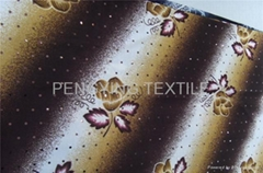 printed FDY stretch fabric with small spangle