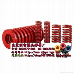 TM红色中负荷矩形弹簧进口55CrSi材质