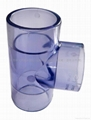 Clear PVC pipe and fitting 1