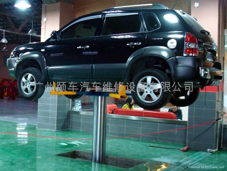 Hydraulic Single post Car lift 2