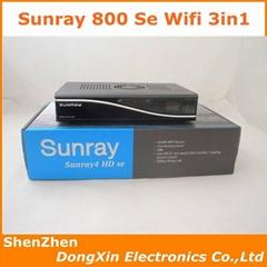 Sunray 800 SR4-WiFi - S C T tuner 3-in-1 DM800SE Sunray 800se Satellite Receiver
