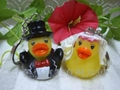 The Bride & Groom Duck Keychain