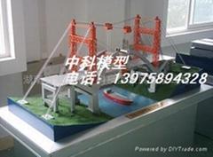 缆索吊机施工桥梁模型
