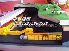 煤礦綜合工作面工藝流程沙盤模型