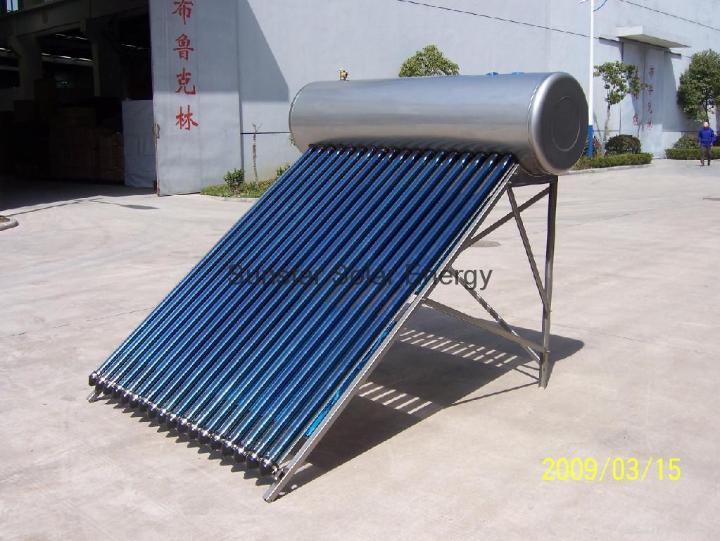 Integrative pressurized solar water heater 2