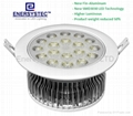 18W Jewelry LED Downlight 1800LM 100-240V Samsung SMD3030 LED CRI92