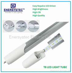 LED Tube driver replaceable,LED driver removable light tube