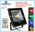 70W RGB LED Floodlights RF wireless control upto 300ft,With Dimming,Memory,