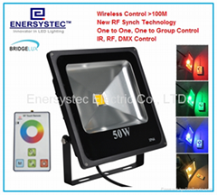 70W RGB Floodlights wireless control