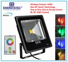 50W RGB LED Flood Lights rf remote control
