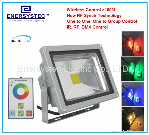 30W RGB LED Flood Lights Outdoor IP65 Remote Control Distance 100 Meter,Porch 1