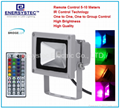 10w Outdoor RGB floodlights Waterproof Remote Control Color Full Porch Light
