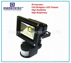 security LED flood light with PIR sensor detector ip66