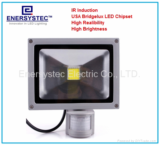 30W Induction LED Flood Lights with detector PIR sensor Security Light 1