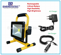 30W Outdoor Rechargeable Portable LED Work Lights ,Flood Light LED Battery