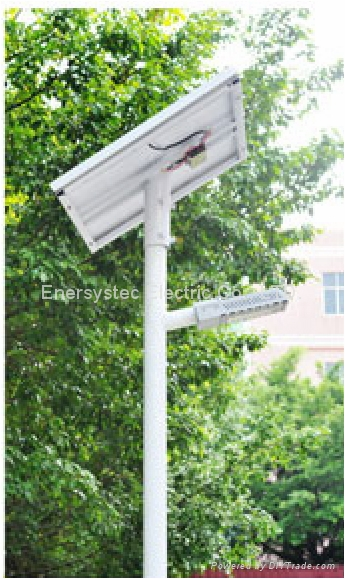 40W Solar LED Street Light IP65 With Lithium Battery Dusk to Dawn Auto ON OFF 2