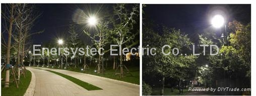 40W Solar LED Street Light IP65 With Lithium Battery Dusk to Dawn Auto ON OFF 4