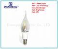 2W Filament LED Candle Bulbs E12 E14 Light Base Candelabra Screw Socket