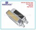 11W G24 LED横插灯