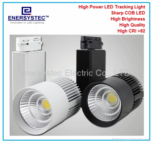 30W LED Tracking Lighting Aluminum profile+glass,3000LM for office home hotel 1