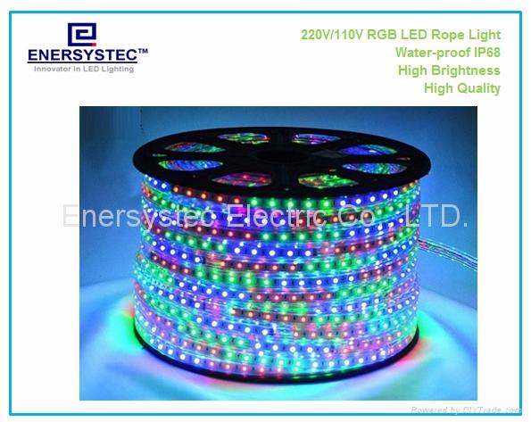 230VAC RGB LED Rope Lights IP68 1