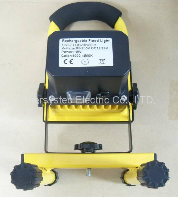 10W emergency rechargeable flood light with RoHS and CE certificated 8
